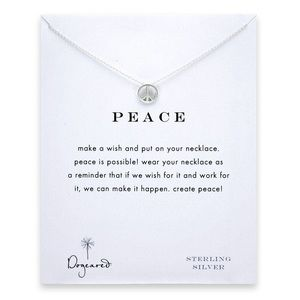 NWT Dogeared Peace Necklace